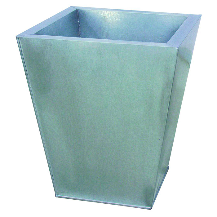 DECO Sinkkiruukku 43 x 43 x 45cm. Flowerpot Zinc. Classical cachepot series, applicable for almost every project