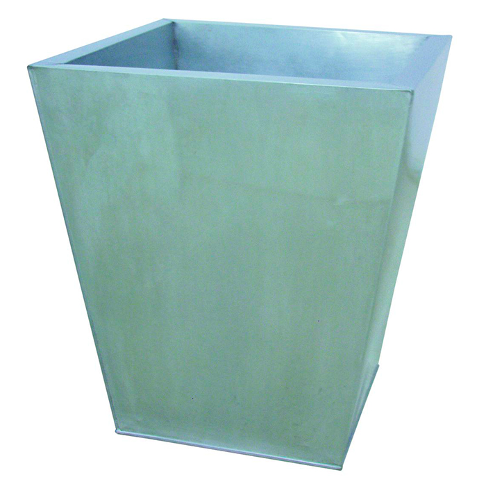 DECO Sinkkiruukku 53 x 53 x 55cm. Flowerpot Zinc. Classical cachepot series, applicable for almost every project