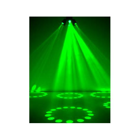 EUROLITE LED SVF-1 Flower efekti 448x 5mm LEDiä 25°, auto mode, musiikkiohjaus, sisäänrakennetut ohjelmat, DMX-ohjaus tai stand-alone, master/slave.