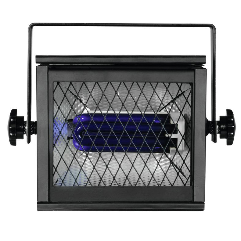 EUROLITE UV-valaisin PRO sisältää valaisinrungon ja energiansäästölampun 25W. UV-Floodlight include UV energy saving lamp 25W. Professional UV-floodlight. Mitat 165x243x185mm, paino 1.5 kg.