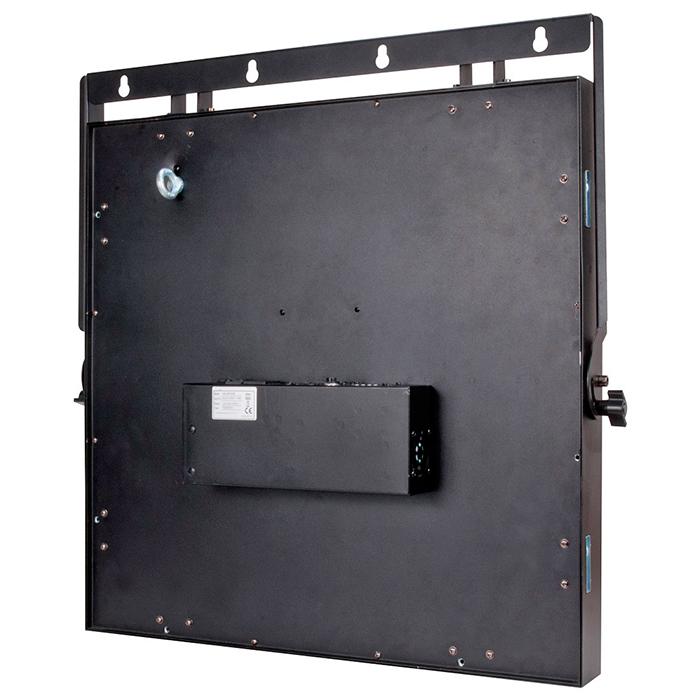 ADJ Matrix Beam LED Audience Blinderi 25x 3W Cree LEDiä, väri lämmin valkoinen, 2˚ valokeila. LED-toimintonäyttö ohjauspaneelilla, himmennettävä 0-100%, pulssi ja strobe-efekti, kolme toimintatilaa; auto run, ääni- ja DMX-ohjaus.