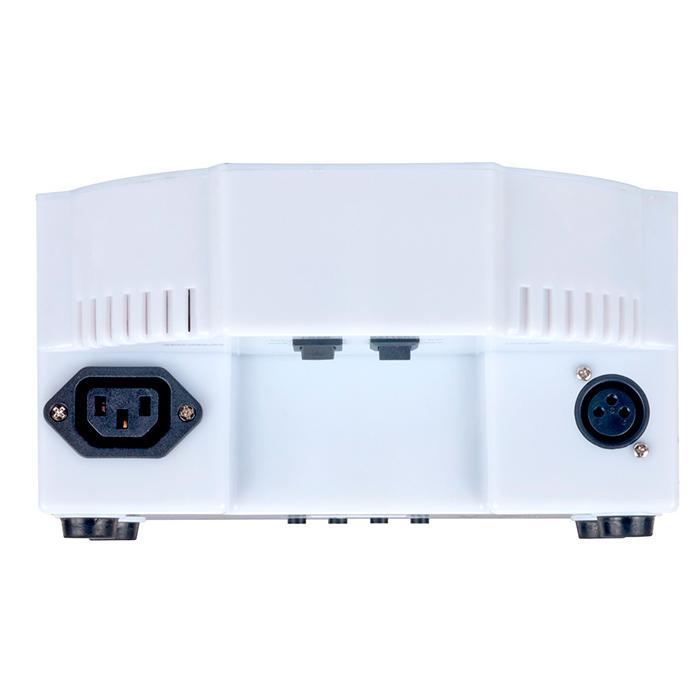 AMERICANDJ Jelly Go PAR-64 valoheitin 176x 10mm RGB LEDiä, 30˚, hehkuvat läpinäkyvät kuoret, toimii ladattavalla akulla tai verkkovirralla. Sisältää ADJ LED RC IR-kauko-ohjaimen. LED-näyttö menu takapaneelissa, himmennettävä 0-100%, pulssi ja strobe-efekti, viisi toimintatilaa; auto run, ääniohjaus, RGB manual-ohjaus, staattiset värit, DMX-ohjaus.