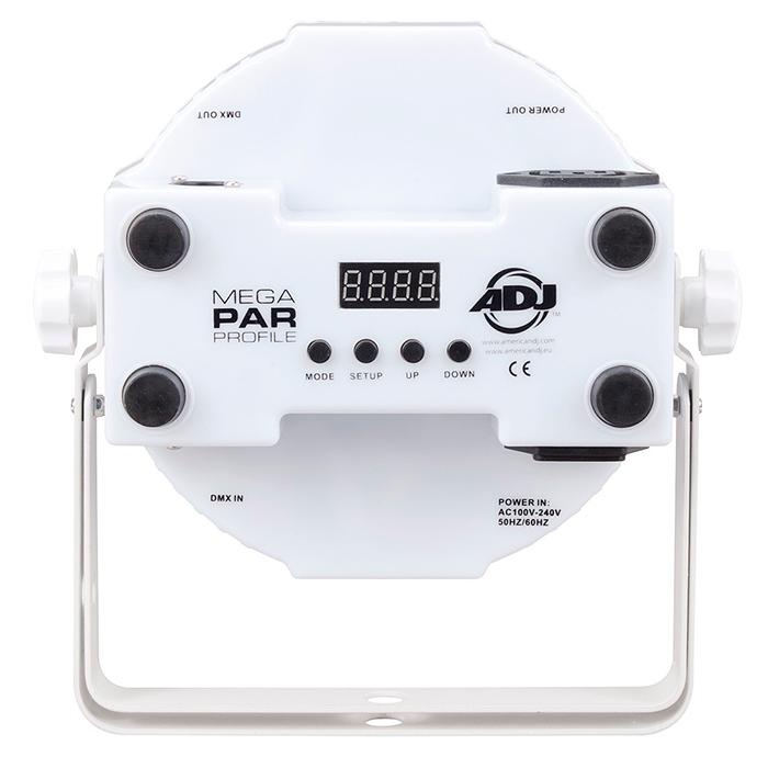 POISTO ADJ Jelly PAR Profile LED valonheitin. 108x 10mm RGB LEDiä, 30˚.Hehkuvat läpinäkyvät kuoret. LED-näyttö menu takapaneelissa, himmennettävä 0-100%, 32 valmista värimakroa, pulssi ja strobe-efekti, viisi toimintatilaa; auto run, ääniohjaus, RGB manual-ohjaus, staattiset värit, DMX-ohjaus. Voidaan ohjata ADJ LED RC IR-kauko-ohjaimella (myyydään erikseen). Mitat 225x220x85mm sekä paino 1.1kg. viileehinta