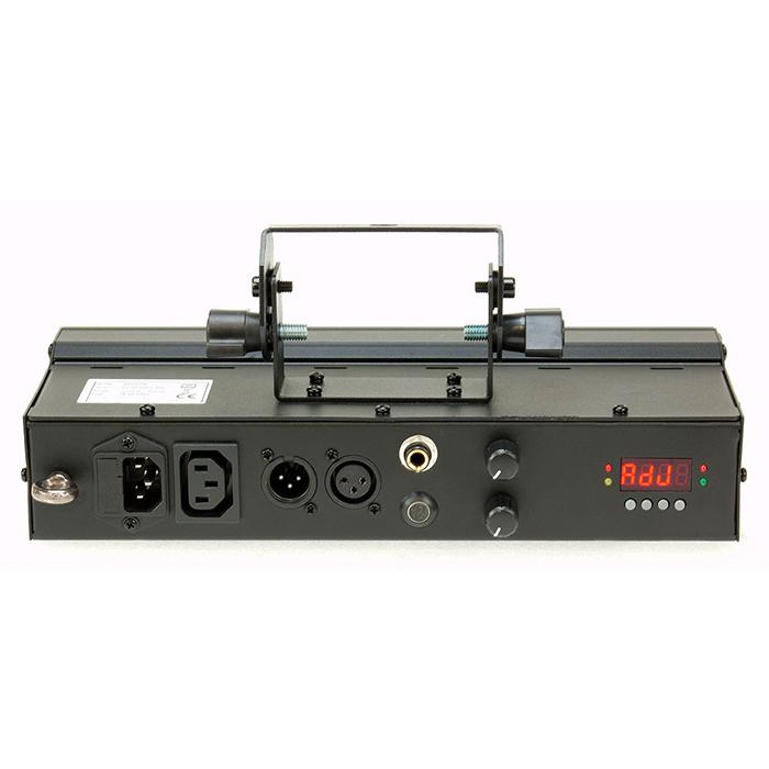 ADJ FREQ 5 Strobe 5-alueinen strobe 5x 5W, LED-toimintonäyttö takapaneelissa, himmennettävä 0-100% manuaalisesti tai DMX:n kautta, välähdysnopeuden säätö manuaalisesti tai DMX:n kautta, kolme toimintatilaa; master/slave, sound active ja DMX-ohjaus. Mitat 302x140x140mm sekä paino 2,0kg.