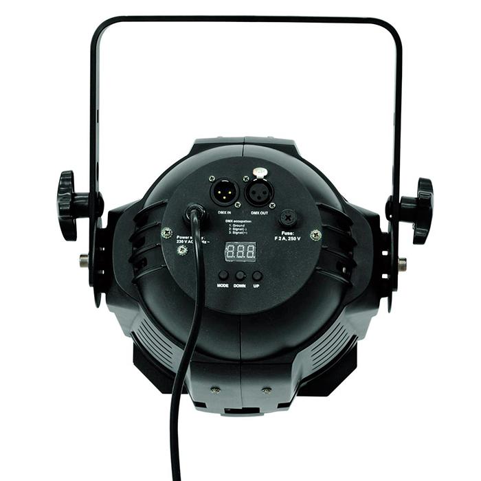 EUROLITE LED ML-56 BCL 36x 4W CW/WW värilämpösekoitus (kylmä/lämmin valkoinen) 25°, runko musta, 17 valmista väriasetusta, himmenninkäyrät ja himmennyksen nopeus säädettävissä, strobe, DMX-ohjaus tai stand-alone, master/slave. LED spot in multi lens design with powerful 4W LEDs.