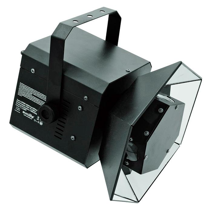EUROLITE LED BR-200 Flower-efekti 18x 3W LEDiä (3xred, 3xgreen, 3xblue, 3xamber, 3xwhite, 3xpink) 60°, LED-näyttömenu takapaneelissa, sisäänrakennetut valmiit ohjelmat, strobe-efekti, auto mode, ääniohjaus, DMX-ohjaus tai stand-alone, master/slave.