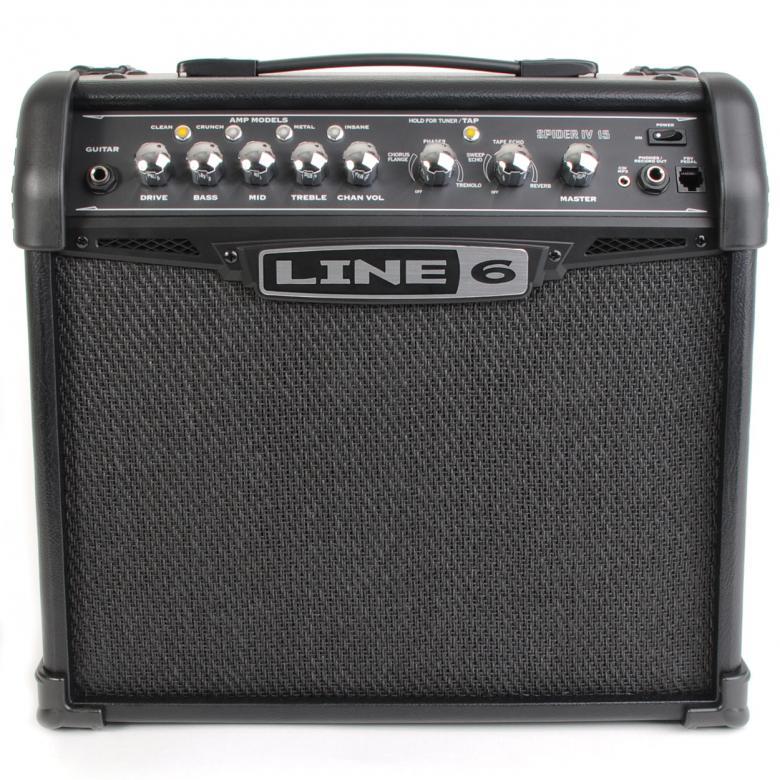 LINE6 Spider IV 15 Mallintava kitaracombo 15 Wattia.  8