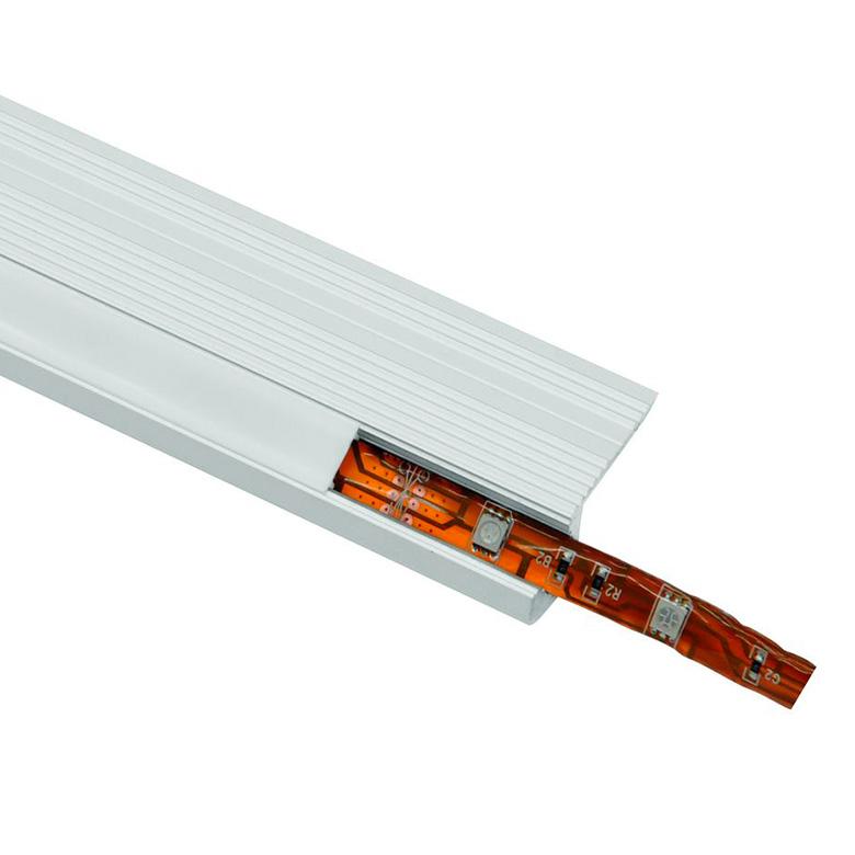 EUROLITE Kansi alumiiniprofiilille, 2m läpikuultava valkoinen.
