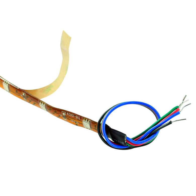 EUROLITE LED-nauha IP68 Strip 150x SMD5050 LEDiä 5m RGB 24V IP44 LED-valonauha sopii ulko- ja sisäkäyttöön. Voidaan katkaista joka 167 mm jälkeen eikseen merkityistä kohdista. Nauhan mitat 5000mm sekä leveys 10mm. Flexible LED strip for indoor and outdoor use