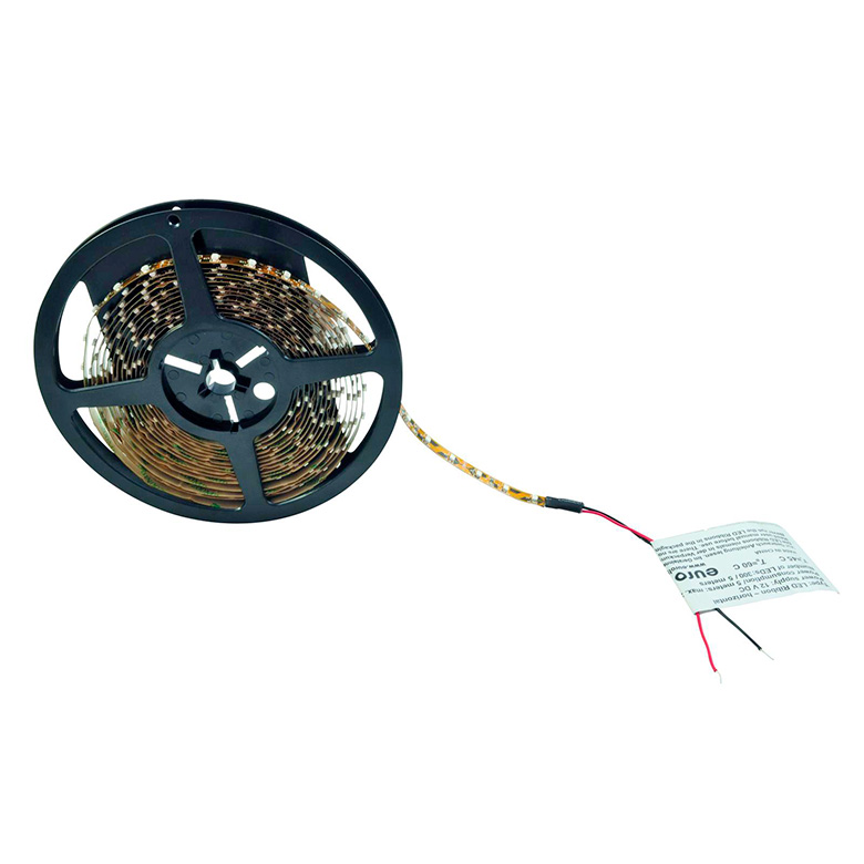 EUROLITE LED-nauha Strip 300x SMD3528 LEDiä 3000K, 5m 12V, LED-valonauha sisäkäyttöön. Flexible LED strip for indoor use