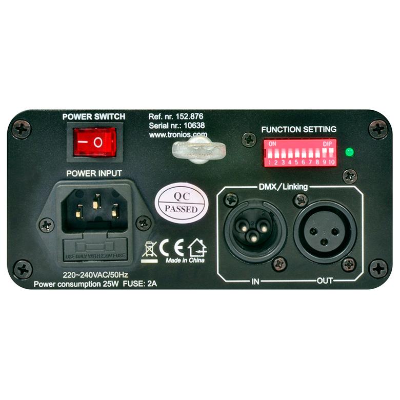 BEAMZ LS-RG11 Laser valoefekti puna-vihreä. Red 150mW, Green90mW, Gobo 120°, DMX-, auto- ja ääniohjaus, valmiina 8 sädekuvioa ja graafista kuvioa. Luokka 3B.