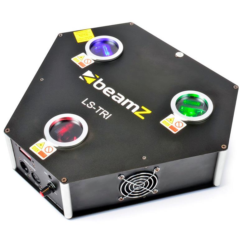BEAMZ LS-FBTRI RGB Laser Red 300mW, Green 80mW, Blue 400mW, valovoimaiset