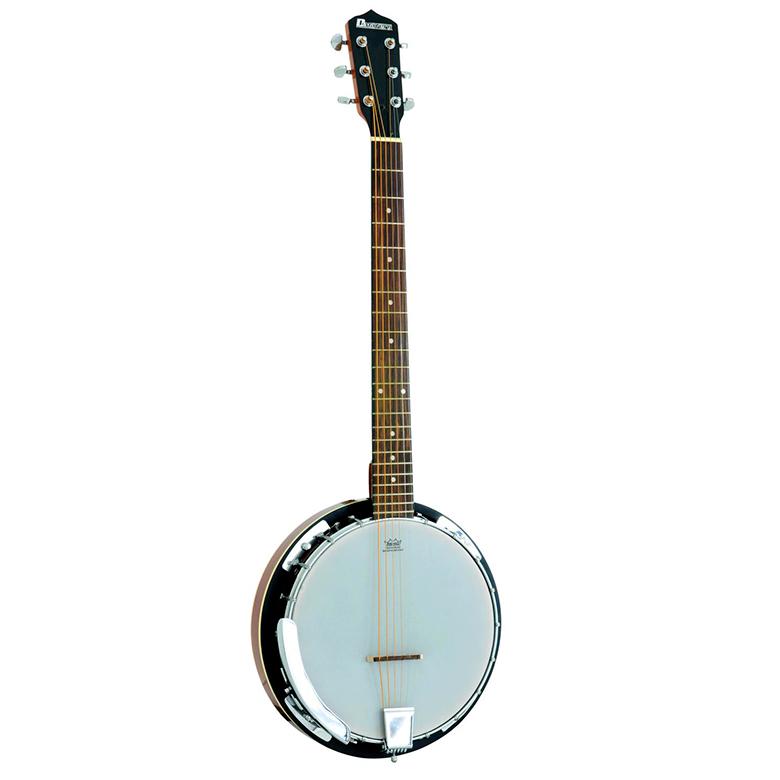 DIMAVERY BJ-30 Banjo 6-kielinen, mahonki, discoland.fi