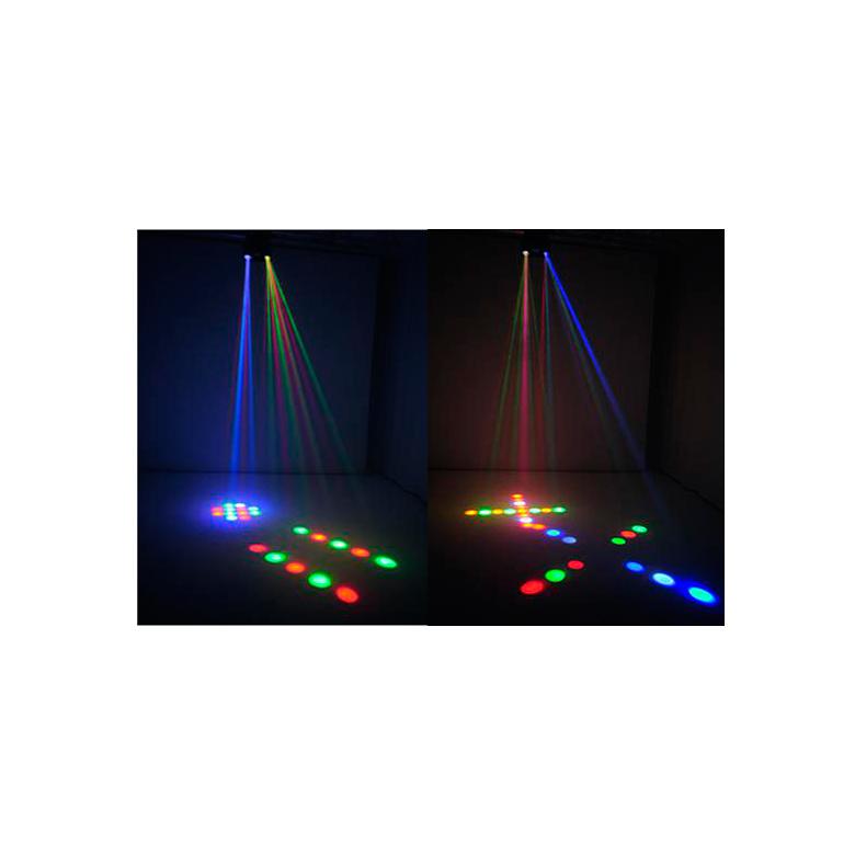 EUROLITE LED TWS-20 Scanner-tyyppinen Hybridi Beam-efekti, 128x 5mm RGBAW LEDiä ja 36x SMD-5050 valkoista LEDiä. LED-toimintonäyttö ja ohjauspaneeli, sisäänrakennetut ohjelmat, strobe asetukset DMX:n kautta, ääniohjaus ja herkkyys säädettävissä, DMX-ohjaus tai stand-alone, master/slave. Samassa laitteessa tupala scanneri sekä LED strobe efekti.