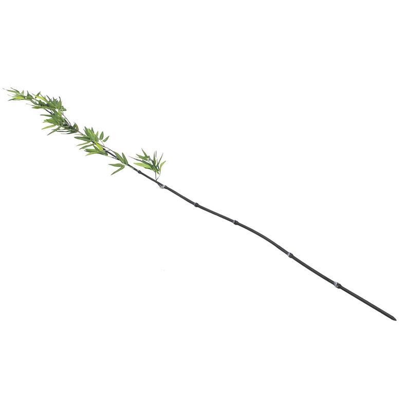 EUROPALMS 180cm Bamburuoko lehdillä, 6 kpl setti. Muutama pala Aasiaa vaikka kotia, aidot bambut on heinäkasvien ryhmä, johon kuuluu noin 90 sukua ja näihin yhteensä yli tuhat lajia, yksittäinen bambu versoo suoraan maasta vuosittain useita versoja, ja niiden halkaisija riippuu emokasvin iästä, pituutta tulee päivittäin lisää. Bambut, kuten muutkin heinäkasvit, kasvavat maan rajasta eikä kärjestään. Bambuja kasvaa villinä laajalla alueella ja viljeltynä lähes kaikkialla. Laajimmat bambumetsät ovat Aasian vuoristoissa, joissa bambuja kasvaa jopa 4 000 metrin korkeudessa. Bambun varsi on erittäin kuitupitoinen, ja sitä käytetään rakennusmateriaalina, polttopuuna, työkalujen ja tarveastioiden valmistukseen sekä tekstiilien raaka-aineena. Nuoria versoja syödään keitettyinä. Isopandat ja kultapandat käyttävät bambuja pääravintonaan