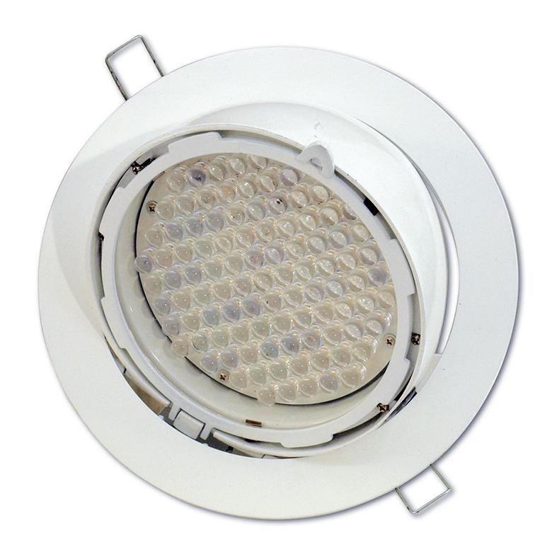 EUROLITE LED DLS-235 upotettava valaisin W/A 97x 10mm valkoista LEDiä, valokeila 30°, valaisimen kulma säädettävissä 50°, käyttöjännite 12V DC, 10W. Decorative Recessed Spotlight