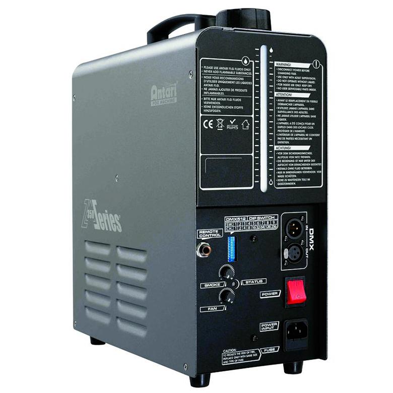 ANTARI Z-350 Fazer joka on kuin hazer, mutta toimii tavallisella savunesteellä. Erittäin vähäinen savunesteen kulutus, täydellä tankilla 1,3 litraa 7 tuntia sumua! Erittäin hiljainen, tuulettimen teho ja sumuntuotto säädettävissä. Mitat 320 x 153 x 391 mm sekä paino 9,0kg.