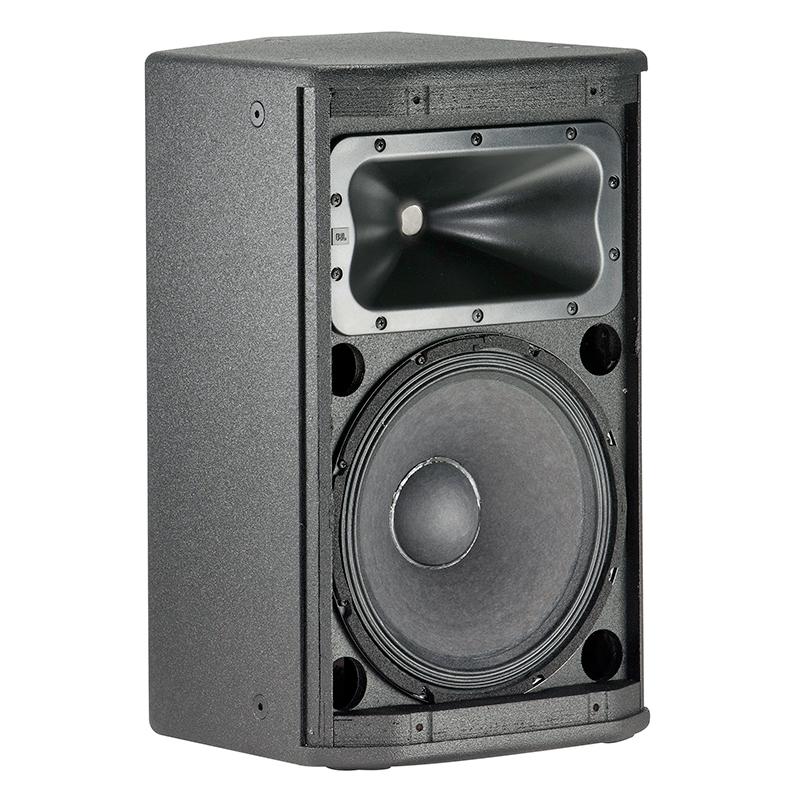 """JBL PRX412M 12"""" 2-tie passiivikaiutin/monitori RMS 300W, max. SPL 126dB, 50Hz – 20kHz, herkkyys 95dB, 8ohm, kattavuus 90˚×50˚ nominal."""