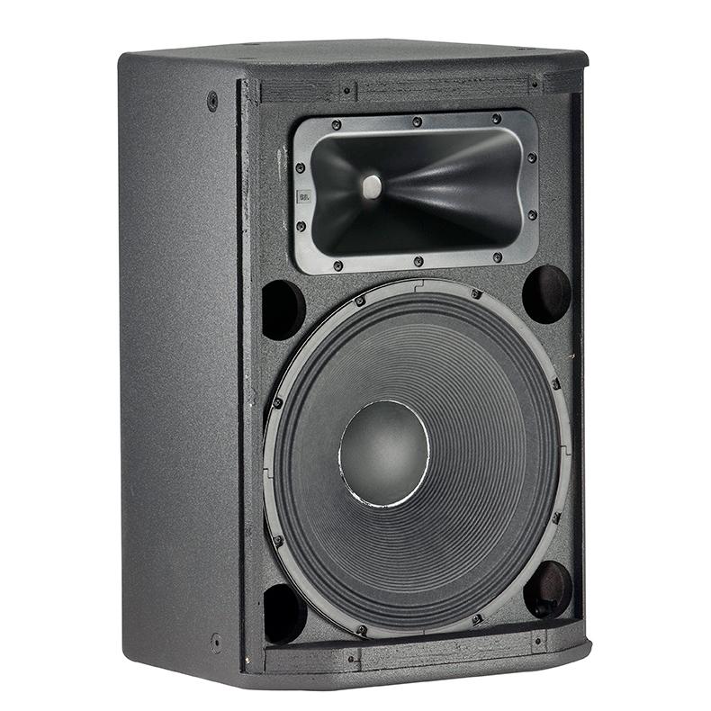 """JBL PRX415M 15"""" 2-tie passiivikaiutin/monitori RMS 300W, max. SPL 128dB, 55Hz – 19kHz, herkkyys 98dB, 8ohm, kattavuus 90˚×50˚ nominal."""