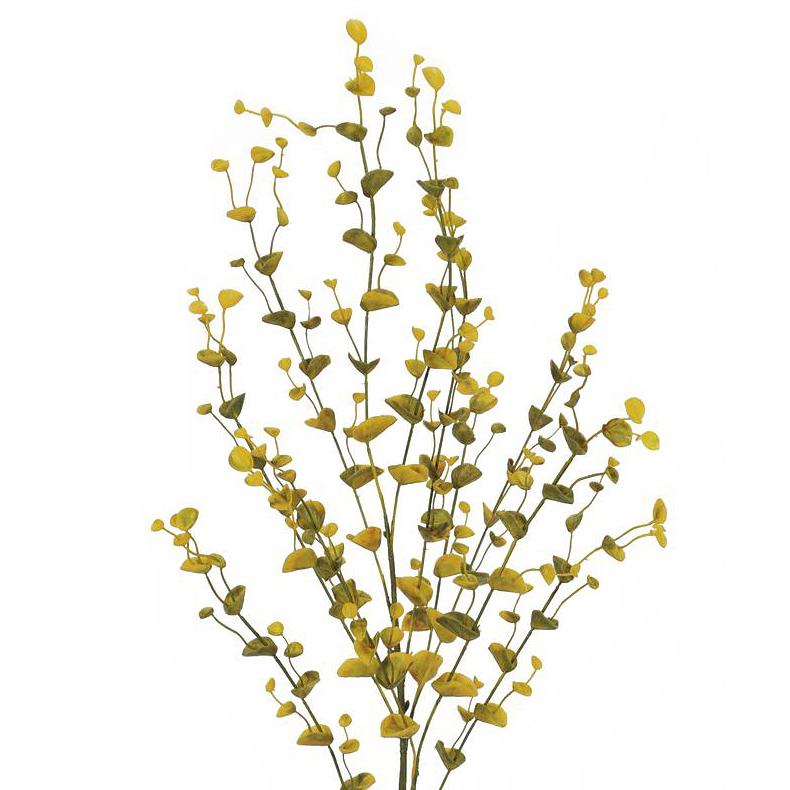 EUROPALMS 110cm Eukalyptusoksa, keltainen-vihreä. Eucalyptus spray, yellow-green. Eucalyptus branch ideal for flower arrangements or individually