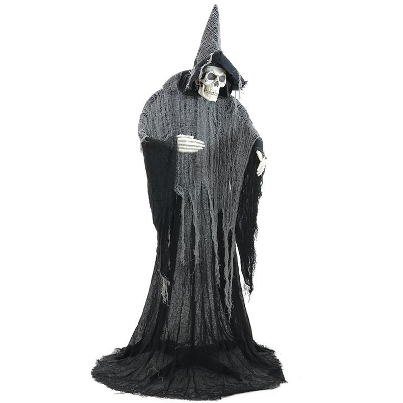 EUROPALMS Halloween luurankonoita II korkeus 160cm sekä varustettu jalustalla.