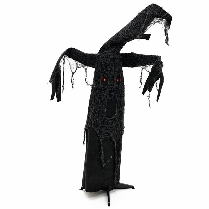 EUROPALMS Halloween aavepuu musta 110cm, animoitu ja ääneen reagoiva,