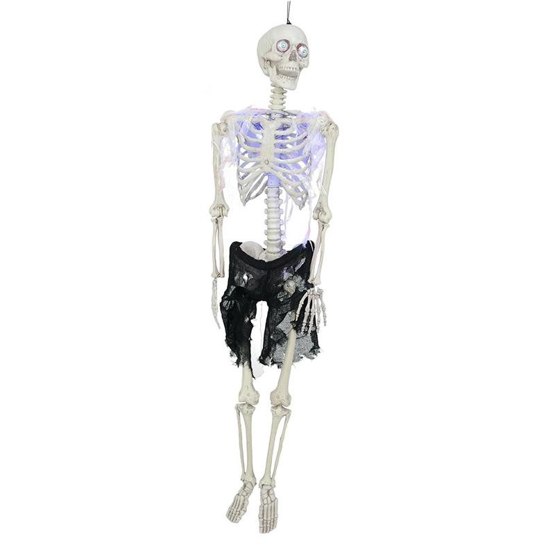EUROPALMS Halloween luuranko LEDeillä, ripustettava, 160cm.
