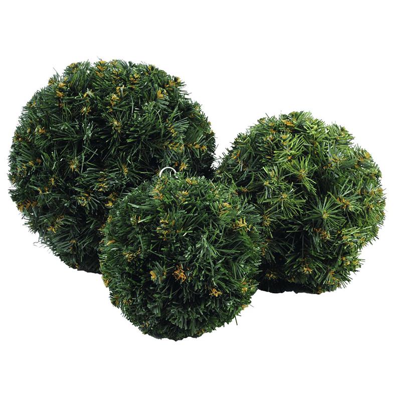 EUROPALMS 25cm tyylikäs jouluinen havupallo, vihreä.