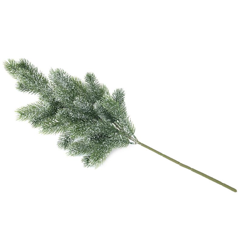 EUROPALMS 65cm Luminen havupuunoksa, vaikka joulutunnelmaa tekemään. Snowy fir branch, PE. Essential for christmas table decoration