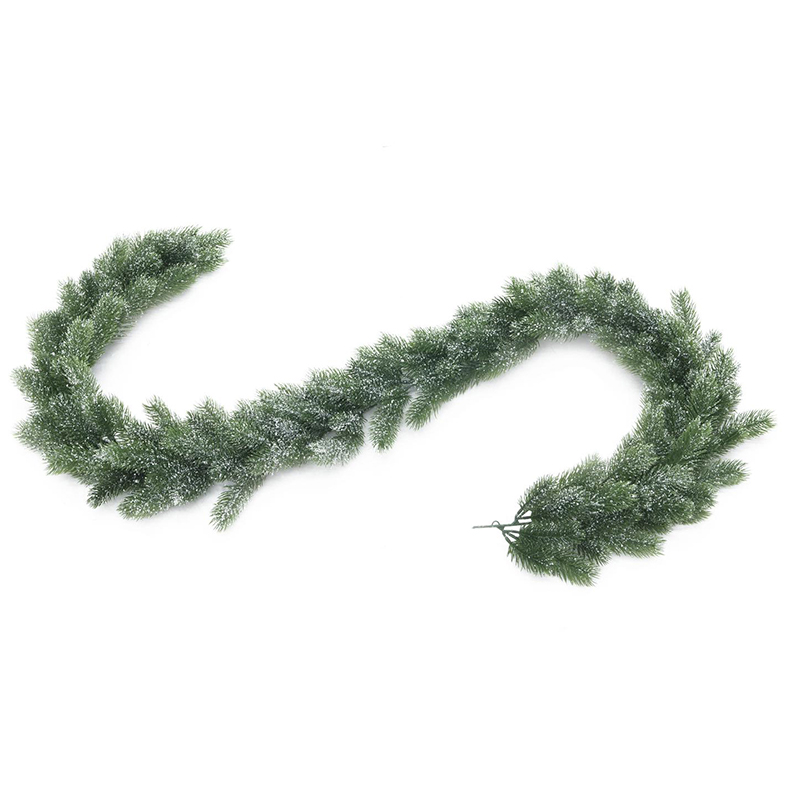 EUROPALMS 180cm Luminen havuköynnös, vaikka joulutunnelmaa tekemään. Snowy fir garland, PE. Christmas spirit whether on windows, doors or table decoration