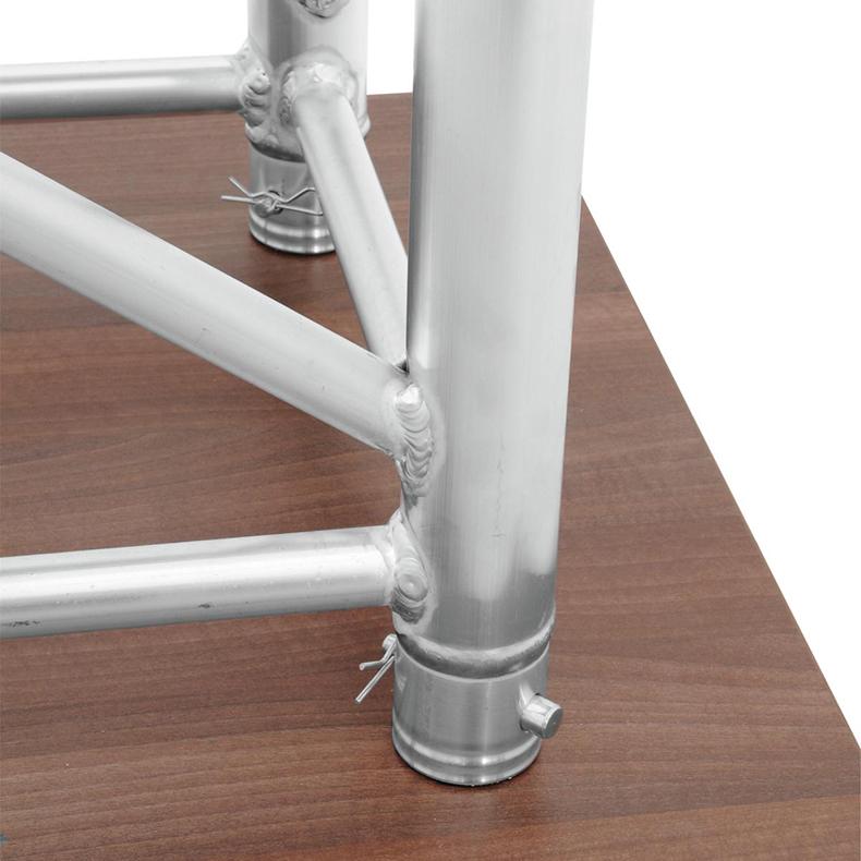 ALUTRUSS Puhujakoroke/kateederi trussista, tyylikäs ja kestävä 1084 x 800 mm. Designer lectern RP-2