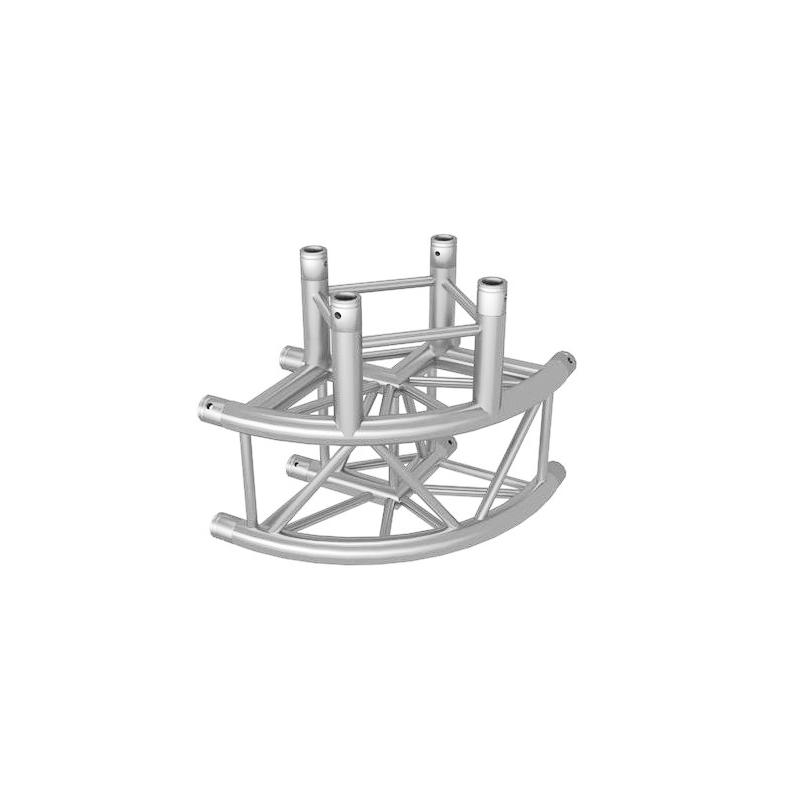 ALUTRUSS  QUADLOCK 3-tie pyöreä kulmapala  90° 6082C-30R. 3-way round corner piece