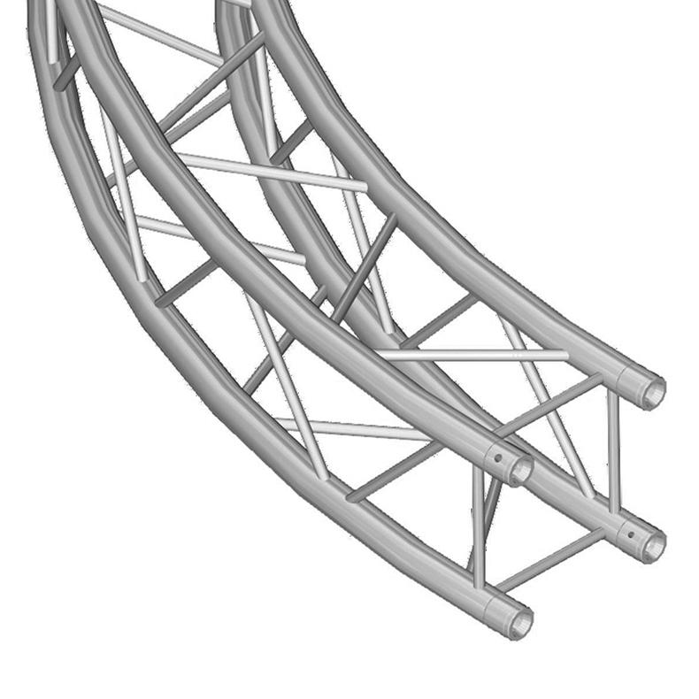 ALUTRUSS  QUADLOCK 6082 Ympyrätrussi d=5m (sisämitta), täydellinen paketti, kasattava. Circle truss d=5m (inside)