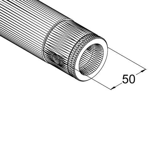 ALUTRUSS SINGLELOCK Halkaisijaltaan 3m ympyrätrussiin 90°:n pala. 4 palasta tulee täysi ympyrä. Circle element 90° for 3m circle truss.