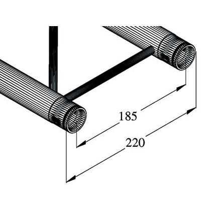 ALUTRUSS DECOLOCK 2-tie kulmapala 60° DQ2-PAC20V. 2-way corner piece