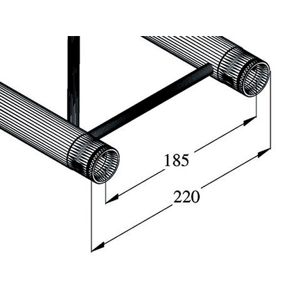 ALUTRUSS DECOLOCK DQ2 Halkaisijaltaan 4m ympyrätrussiin 90°:n pala. 4 palasta tulee täysi ympyrä. Circle element 90° for 4m circle truss, horizontal.
