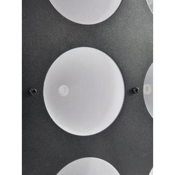 POISTO EUROLITE CBC-3 LED-paneeli, 9x 15W COB TLC LEDiä max 72°, RGB-värit, LED-toimintanäyttö ja ohjauspaneeli, himmenin ja strobe, ääniohjauksessa herkkyys säädettävissä, DMX-ohjaus tai stand-alone, master/slave. Mitat 344 x 344 x 156.5 mm sekä paino 6kg.