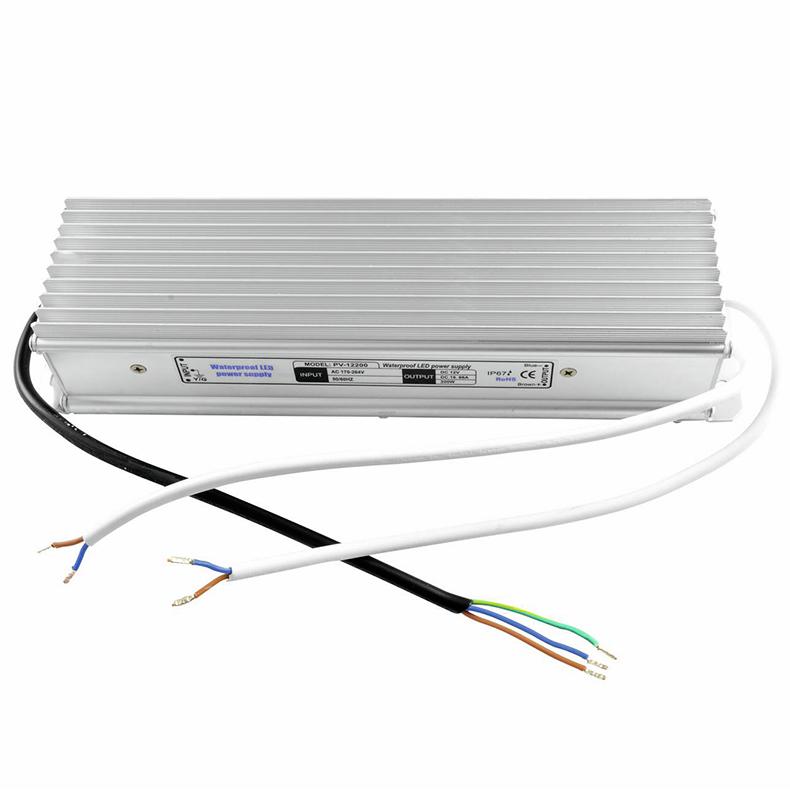 EUROLITE Elektroninen LED-virtalähde 12V 16,66A IP67 ulko- tai sisäkäyttöön.