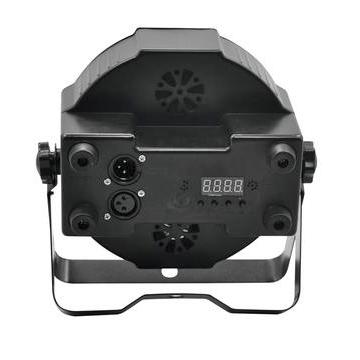 EUROLITE SLS-180 LED RGB 18x 1W 35° lattia spotti. LED-spot, ohjauspaneeli LED-näytöllä laitteen takana, staattiset värit, RGB-värisekoitukset, sisäänrakennetut valmiit ohjelmat, himmennin, strobe-efekti, ääniohjaus, DMX-ohjaus tai stand-alone, master/slave. Mitat 100 x 200 x 225 mm sekä paino 1.2kg.