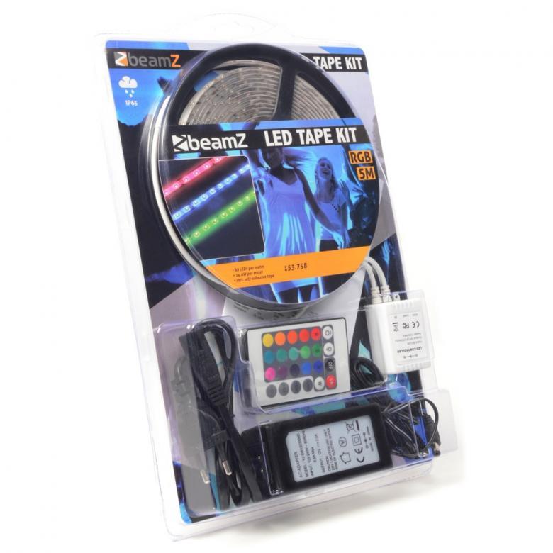BEAMZ LED-valonauha IP65 5m RGB-12V IP65, discoland.fi