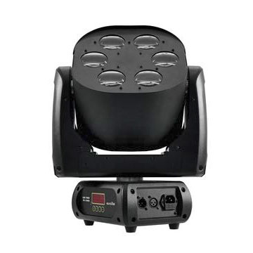 EUROLITE LED TMH FE-1000 Moving Head flower-efekti 4x 10W LEDiä RGBW-värit, LEDit ja peilit 6 kpl linssien takana, LED-toimintonäyttö ohjauspaneelilla, 630° PAN and 240° TILT, valmiit värien esiasetukset, strobe DMX-kautta, stroben nopeus säädettävissä ja random toiminto, automode, ääniohjauksessa mikrofonin herkkyys säädettävissä, stand-alone tai master/slave.