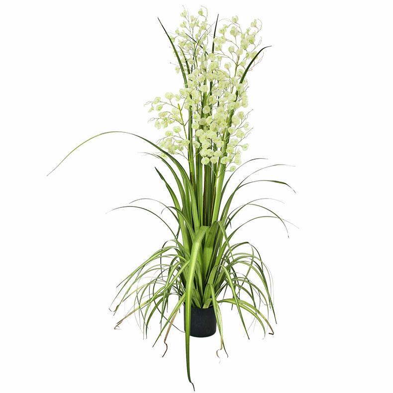 EUROPALMS 140cm 'Orkideaheinää' mustas, discoland.fi