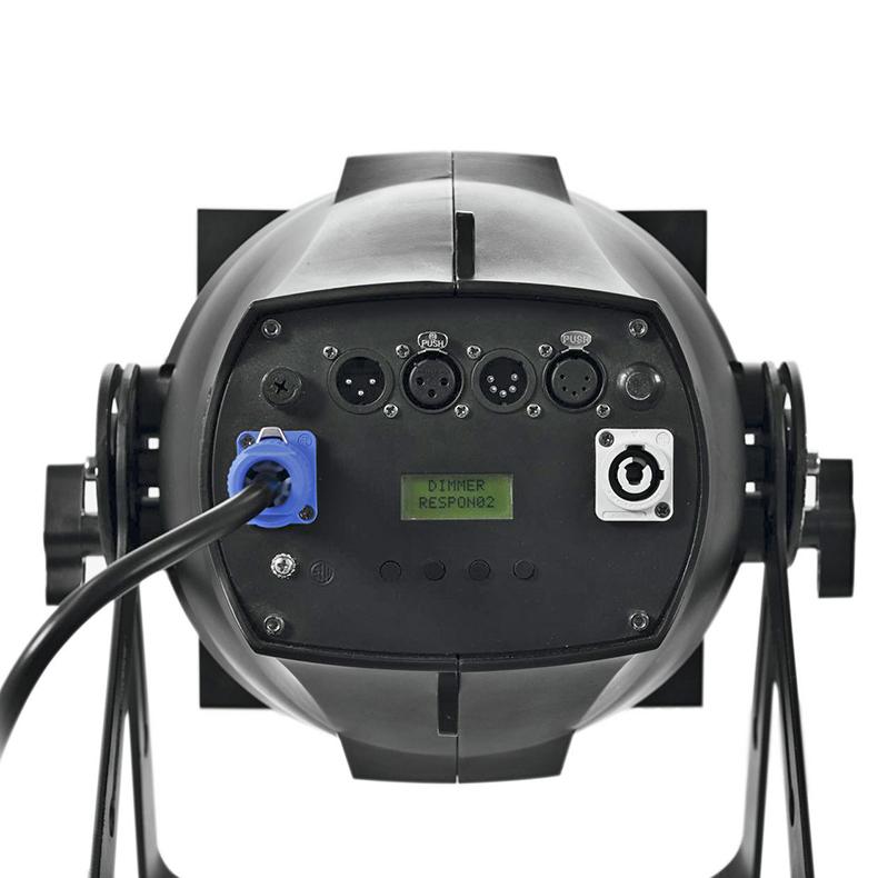 EUROLITE  Zeitgeist Spotti 210 on huippu tehokas PRO COB-spotti, 7x 30 W TCL LEDiä (tricolor LED) 15°/37°, LED-toimintonäyttö ohjauspaneelilla, RDM-tuki, staattiset värit, RGB-värisekoitukset, automaattinen värin vaihto, sisäänrakennetut valmiit ohjelmat, himmennin portaattomasti säädettävissä, strobe-efekti DMXn kautta, ääniohjauksen herkkyys säädettävissä, DMX-ohjaus tai stand-alone, master/slave, värifiltterikehys Fresnel-linssimoduli irrotettavissa, saatavissa erilliset läppärajaimet, väri musta