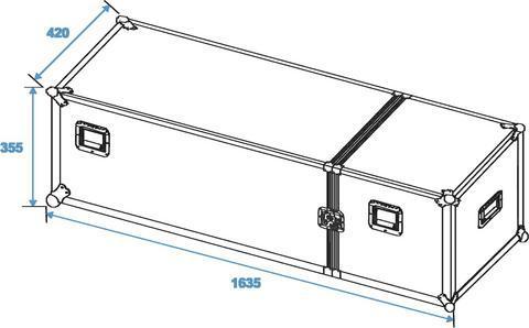 ROADINGER Kuljetuslaatikko neljälle STV-40 valotelineelle   Flightcase for 4 x STV-40 Pro Version. Tämä case soveltuu useille eri valo sekä kaiutintelineille. tarkista sisämitat: 4 x145 x 145 x 1075 mm osastoa. Mitat 420 x 355 x 1635 mm sekä paino 20,00kg.