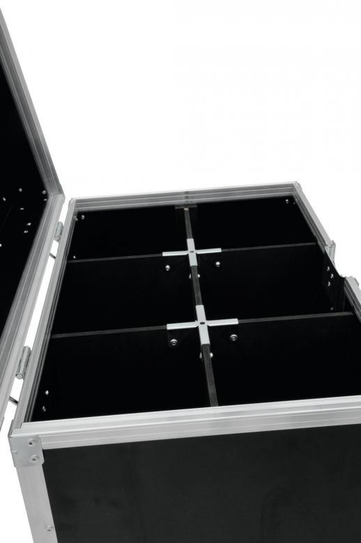 ROADINGER Kuljetuslaatikko kuudelle mikrofonitelineelle, ehjänä mikrofonit ja telineet keikalle. Sopii yleisimmille mikki malleille. Valmistettu laadukkaasta vesivanerista. Ulkomitat 340 x 480 x 1100mm, sisämitat 295 x 445 x 995mm, lokerot 145 x 145 x 995mm,  paino 17kg