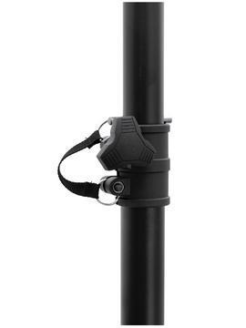 OMNITRONIC M-1 Extra kevyt kaiutinteline alumiinista, väri musta, max kantokyky 18kg, max. korkeus 2,30m, telineen paino vain 1,7kg putken paksuus 35mmØ