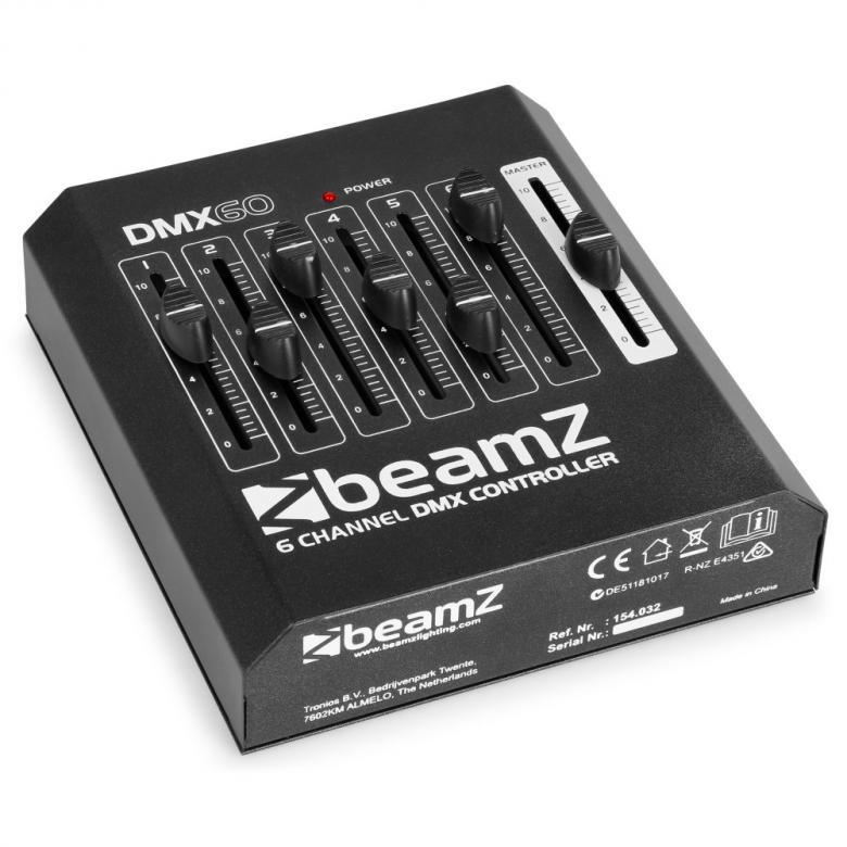 BEAMZ DMX60 DMX-valo-ohjain 6-kanavaa DE, discoland.fi