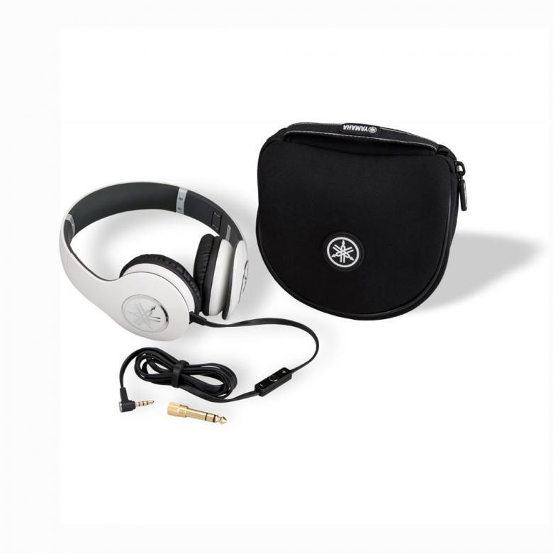 YAMAHA HPH-PRO300 kuulokkeet kätkevät sisäänsä dynaamiset neodyymimagneeteilla varustetut 40mm:n elementit ja korvien päällä pidettävät korvakupit muodostavat tiiviin kaikupohjan ja pehmeät korvatyynyt tuntuvat miellyttävältä iholla. Nämä kuulokkeet herättävät mielimusiikkisi henkiin ja voit nauttia studiolaatuisesta äänikokemuksesta missä ikinä kuljetkin. 53 ohmia, 107dB, 20Hz-20kHz, 200g, iPhone-yhteensopiva, väri valkoinen ja pehmeä kantolaukku!
