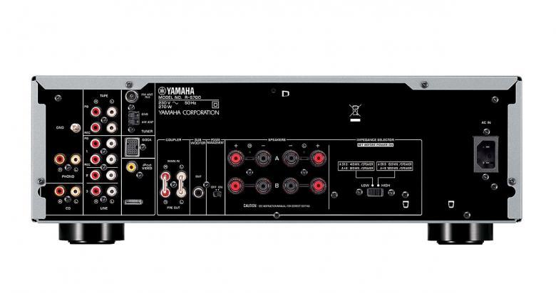 YAMAHA RS-700 Viritinvahvistin RMS 2x 100W. CD Direct vahvistus, Pod video Out, PRE-OUT, ToP-ART, Pure Direct, Rec-out valitsin, 40-aseman FM/AM muistipaikat. Audio IN/OUT 6/2, kullatut terminaalit. ART base runko, minimoi kohinan sekä häiritsevän värinän äänestä. Yli 125 vuoden kokemus soitinvalmistuksesta on antanut Yamahalle sekä kyvyn että intohimon tuottaa hyvälaatuista ääntä. Tämä sama intohimo tavoitella mahdollisimman puhdasta ääntä on vaikuttanut myös Yamahan HiFi-laitteiden suunnitteluun. Huomaat sen joka sävelessä, ensimmäisestä viimeiseen. Väri hopea.