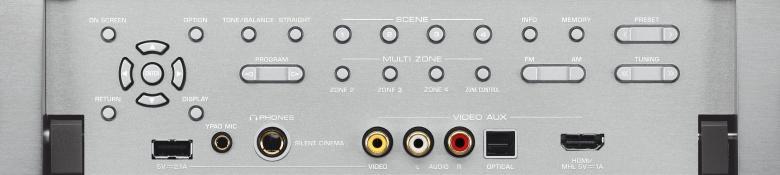YAMAHA RX-A2030 Aventage AV-Viritinvahvistin 9x 220W, 3D-ready. AirPlay & 4K skaalaus, HDMI 8in/2out, ethernet, DLNA, RS-232C, Spotify Connect. Aventage konseptin mukaisesti valmistettu, erittäin tukevalla rungolla oleva viritinvahvistin. Pohjalevyä tukemassa keskelle sijoitettu viides tukijalka joka vähentää entisestään ääntä häiritseviä värinöitä. Tehokas 9.2 vahvistin,PRE-OUT aktiivikaiutinlähdöillä sekä uusien HD ääniformaattien purulla. Uusimmat HDMI liitännät, tukien UHD 4K resoluutiota, 3D kuvaa sekä ARC audio paluukanavaa. Kuvaskaalain aina 4K resoluutioon saakka. Erilliskomponenttirakenteensa ansiosta RX-A2030:sta löytyvät tasokkaat tupla DACit ESS Sabrelta 192kHz/24-bittisenä, mikä tukee musiikin ja elokuvien ääniraitojen puhdasta toistoa. Levysoitinliitäntä. Yamahan täydelliset verkko-ominaisuudet, kuten Airplay tuki, Suomenkielinen ohjainsovellus iOS tai Android laitteille, vTuner nettiradio palvelin sekä DLNA tuki. ZONE monihuonejärjestelmä jopa 4 tilaan. Uusi ZONE HDMI sekä mahdollisuus ohjata toiseen tilaan myös digitaalinen sisääntulosignaali. Uudistettu erittäin herkkä YPAO mikrofonimittaus jopa 8 pisteeseen. Väri titan.
